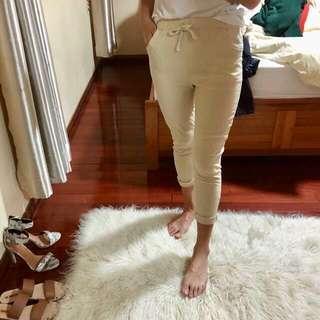 'Natural' linen pants