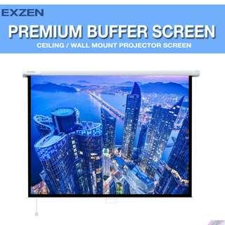 [EXZEN] 120 Inch (1:1) Premium Buffer Projector Screen