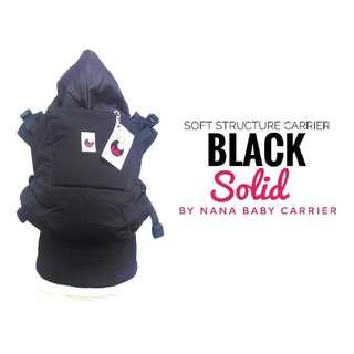 #CLEARANCE [TODDLER] Nana Baby Carrier - All Black ($75)