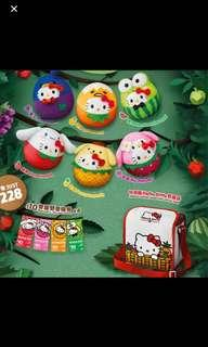 Hello Kitty and friends in fruits costume