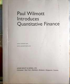 Paul Wilmot Introduction to Quantitative Finance