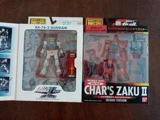 MSIA Rx-78-2 Gundam and Char's Zaku