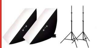New 2 x LED Softbox lighting with Stand