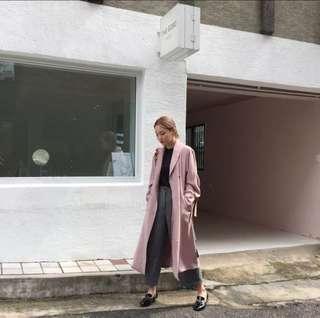 🚚 小姐姐必備- 最美麗的髒粉風衣大衣外套