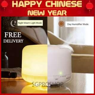 NEW YEAR SPECIAL! Free 2x Essential Oil. Muji Style 500ml Large Capacity Aroma Diffuser + Humidifier