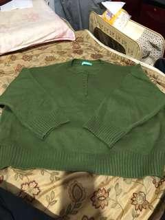 🚚 前鈕扣圓領針織長袖上衣毛衣