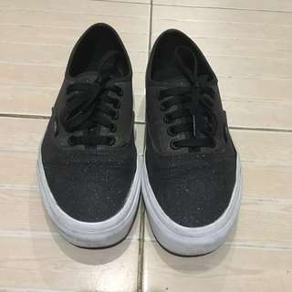 f9d30c090d Vans Black Glitter Ombre Shoes