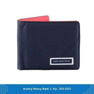 Dompet Pria Wallts Avery Navy Red