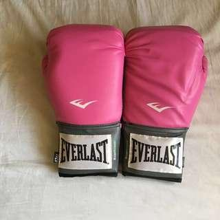 Original Everlast pink boxing gloves
