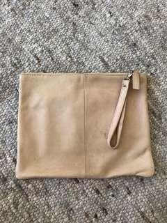 Tony Bianco leather clutch