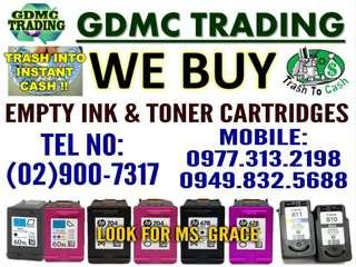 WE ARE BUYING OR BUYER OF EMPTY INK AND TONER CARTRIDGES