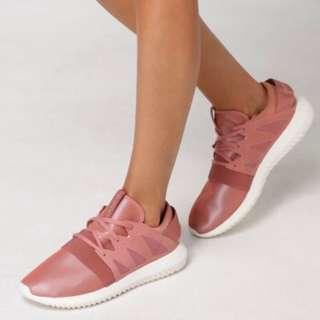 WOMENS ROSE PINK TUBULAR VIRAL SNEAKERS by ADIDAS