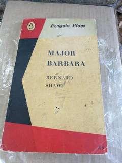 Major Barbara - Bernard Shaw ..english novel ..Buku