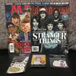 Stranger Things Magazines, Wax Pack, and Stickers