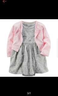 Dress romper and cardigan set brand new (12months)