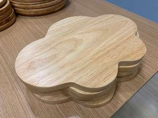 Wooden cloud serving tray