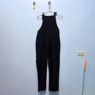 🚚 #1901黑色直筒吊帶褲