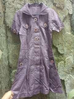 Dress ungu bhn katun