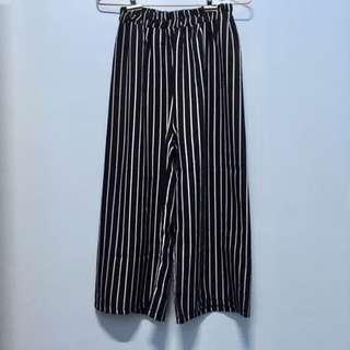 🚚 #1906條紋寬褲
