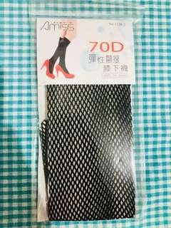 🚚 Amiss彈性顯瘦膝下網襪70D