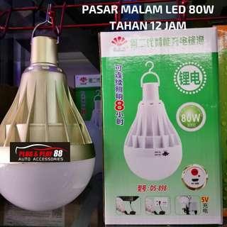 Lampu penjaja pasar malam LED terang 12 jam 80watt