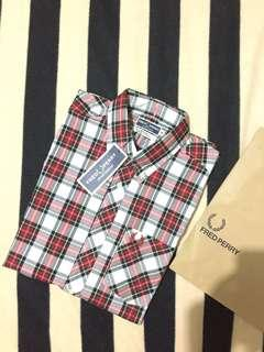 BNWT Authentic fred perry reissue tartan shirt