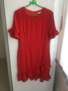 Yuan Red Mini Dress