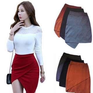 Irregular Pencil Skirt
