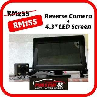 "Car Reverse Camera CCD + 4.3"" LED Screen"