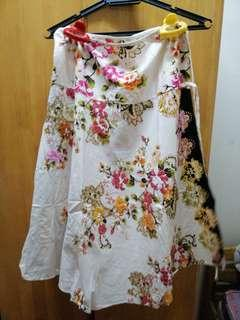 Traditional floral skirt
