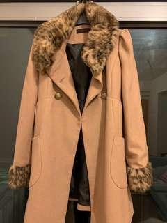 miss selfridge beige overcoat
