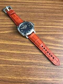 04190303ee1 26mm 22mm Authentic Hermes Orange 🍊 Brown Watch Strap (Hermès Orange  colour not Hermès