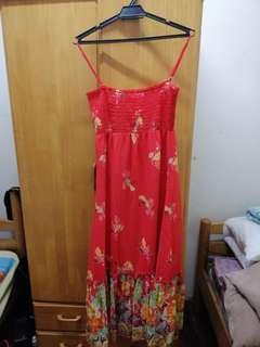 Red floral Beach dress