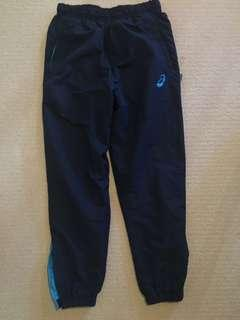 Navy blue ASICS track pants