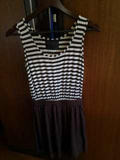Thailand made: Brown and stripes casual dress