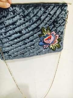 Primark Black Stud Clutch Bag With Chain Shoulder Stra