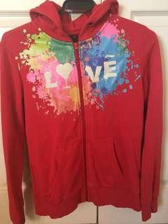 "Red ""love"" jumper"
