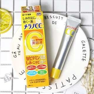 日本本土版 樂敦CC美白淡斑精華液  亮白維VC美容液祛痘印 20ml
