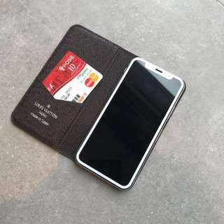 READY STOCK : LV Monogram Flip Folio Case iPhone X XS