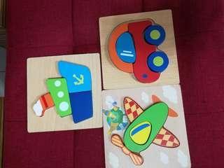 Montessori toy puzzle 3in1