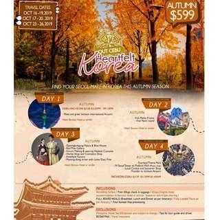 4Days & 3Nights S.KOREA ALL-IN Package/ Depart CEBU (Travel: October)