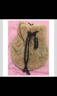 冬季 可愛 毛毛 水桶包