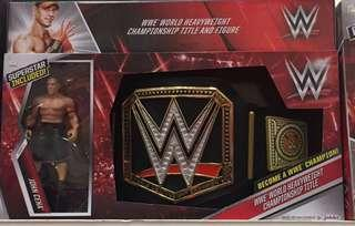 WWE Wrestling Belt and John Cena Figure set