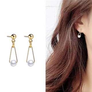 ╭✿蕾兒0509✿╮DB034-韓國耳飾簡單明瞭小巧氣質珍珠耳環耳釘耳針飾品首飾