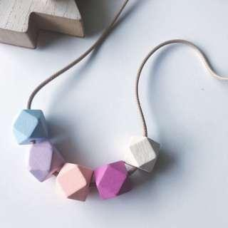 Butterflywood Hexagon Wood Necklace / Geometry Necklace