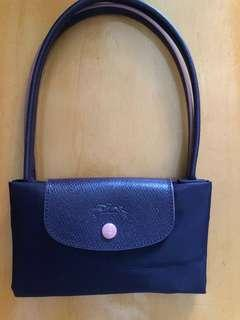 全新Longchamp club 長柄s size 粉色刺繡logo