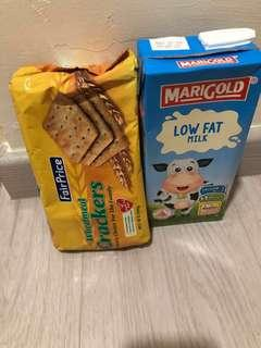 Marigold low fat Milk & wholemeal crackers