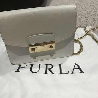 Authentic Furla Metropolis Mini Bag White colour