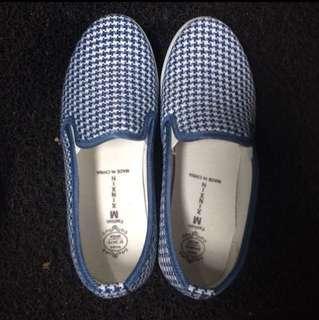 Blue Denim Slip On Shoes Sneaker