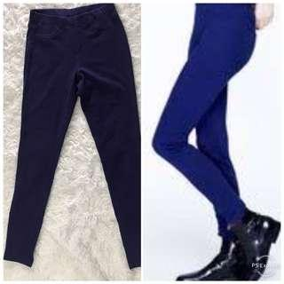 Preloved Uniqlo women leggings pants - ungu